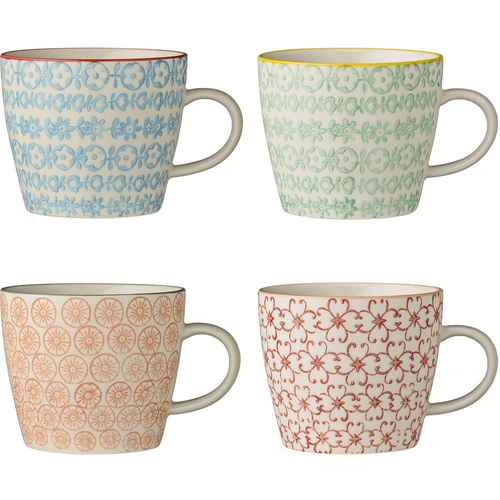 bloomingville geschirr becher mug aus porzellan mit muster set. Black Bedroom Furniture Sets. Home Design Ideas