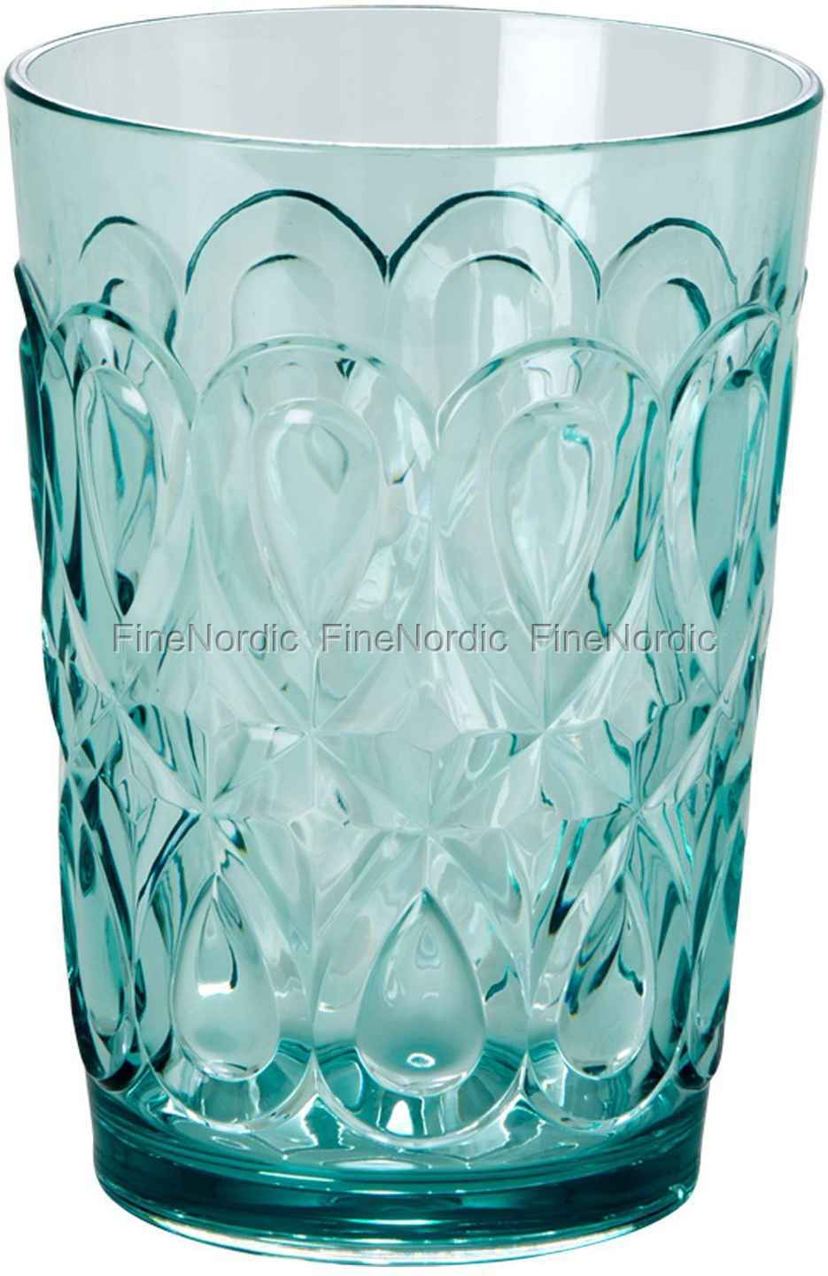 rice acryl glas swirly embossed tumbler acrylic mint. Black Bedroom Furniture Sets. Home Design Ideas