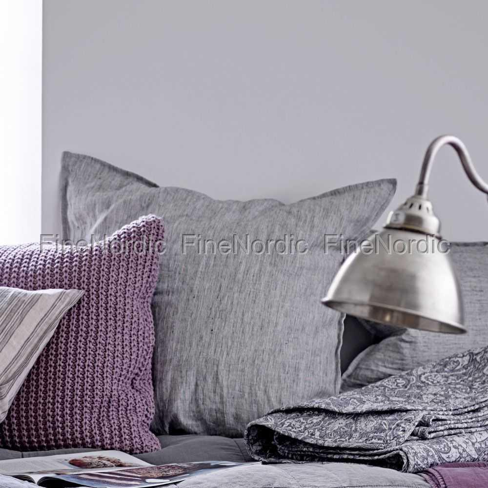ib laursen kissenbezug august schmale schwarze streifen. Black Bedroom Furniture Sets. Home Design Ideas
