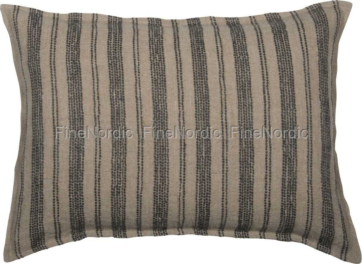ib laursen kissenbezug daniel schmal breit gestreift 60x40 cm. Black Bedroom Furniture Sets. Home Design Ideas