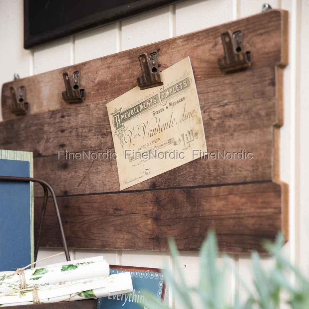 Ib Laursen Holzplatte mit 4 Clips