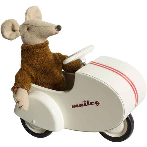 Maileg Kaninchen Scooter mit Seitenwagen für Micro und MY