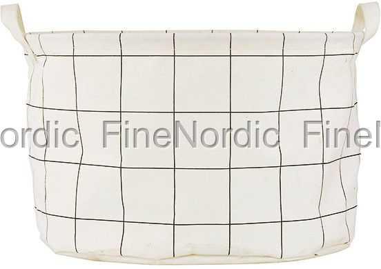 house doctor w schekorb in stoff squares h 25 cm. Black Bedroom Furniture Sets. Home Design Ideas
