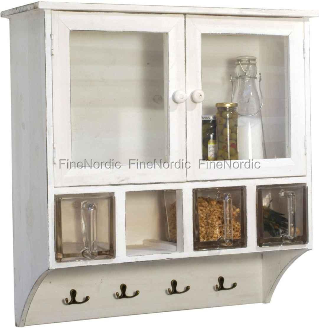 ib laursen schrank mit 4 f chern wei. Black Bedroom Furniture Sets. Home Design Ideas