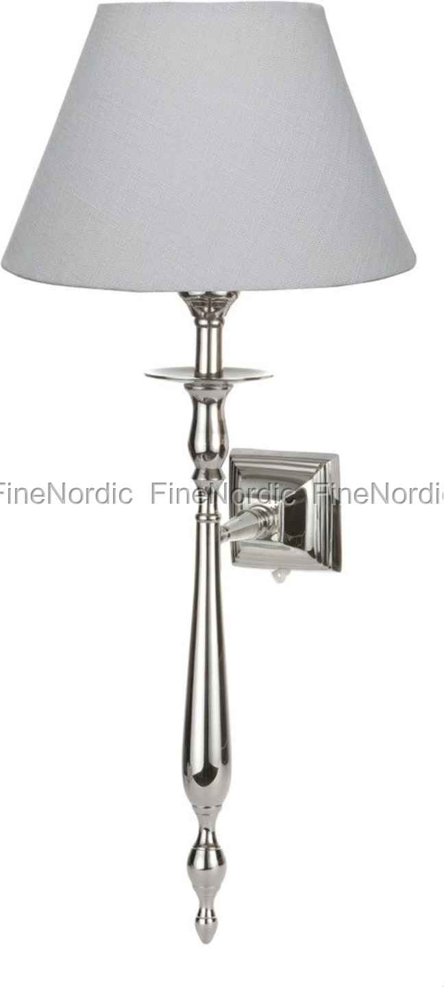 lene bjerre wandlampe gisele silber h 57 cm ohne schirm. Black Bedroom Furniture Sets. Home Design Ideas