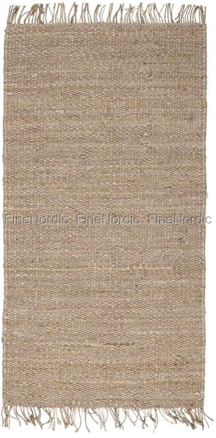 ib laursen teppich natur jute 80 x 160 cm. Black Bedroom Furniture Sets. Home Design Ideas