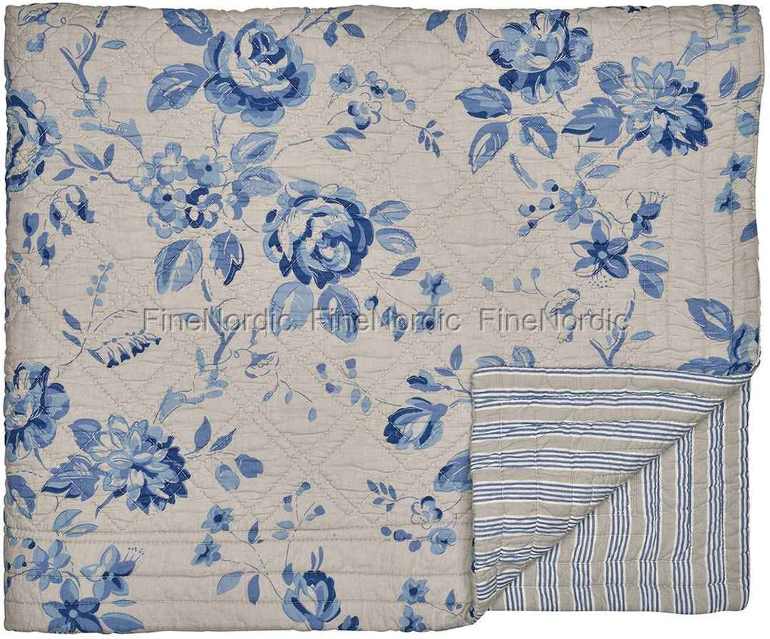greengate tagesdecke quilt bed cover amanda dark blue 140 x 220 cm. Black Bedroom Furniture Sets. Home Design Ideas