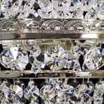 Elite Bohemia Kristall-Korblüster mit drei Leuchten - Gold-Finish - Swarovski Kristall