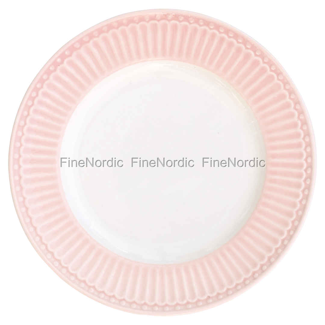 Greengate Teller Stoneware Plate Small Alice Pale Pink