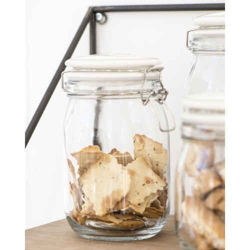 ib laursen glaskrug mynte mit wei em deckel 1400 ml. Black Bedroom Furniture Sets. Home Design Ideas
