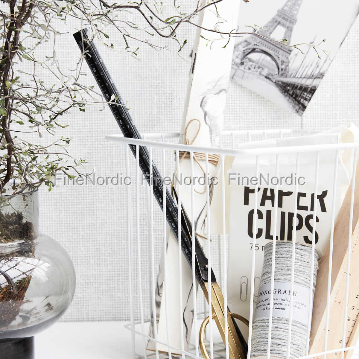 house doctor korb stak wei 22x20 cm. Black Bedroom Furniture Sets. Home Design Ideas