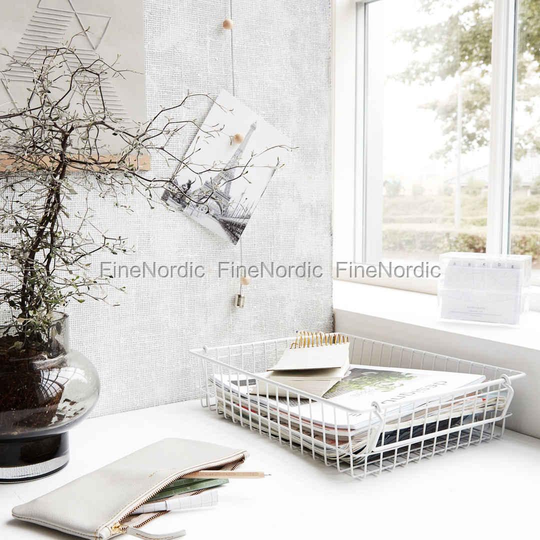 house doctor korb stak wei 34x27 cm. Black Bedroom Furniture Sets. Home Design Ideas