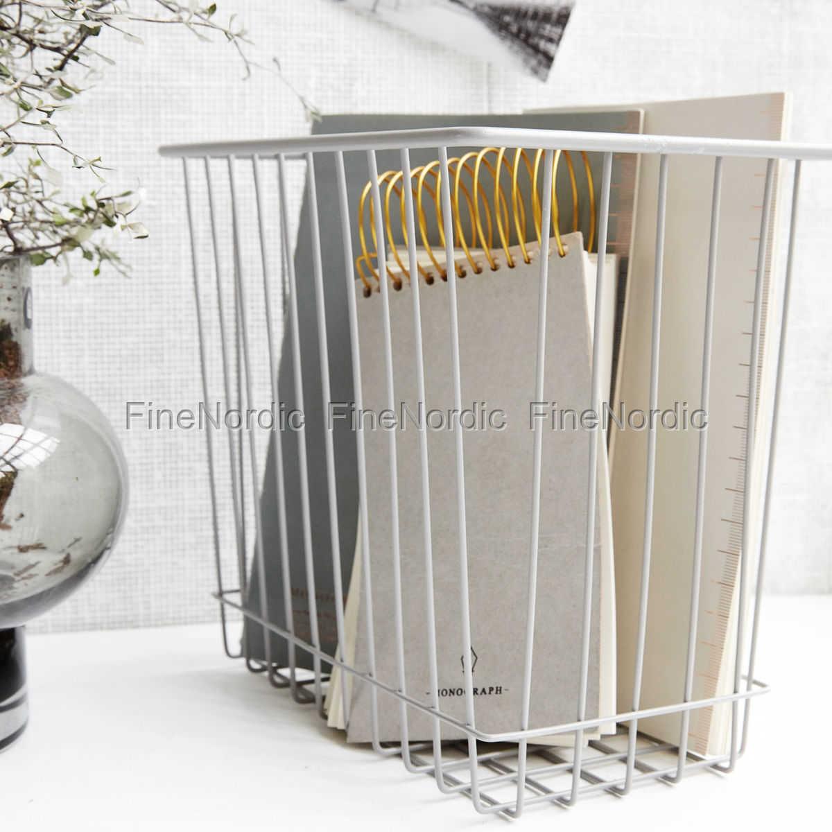 house doctor korb stak grau 22x14 cm. Black Bedroom Furniture Sets. Home Design Ideas