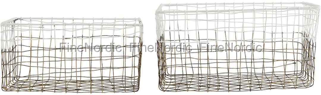 house doctor aufbewahrungsk rbe mail 2er set metall wei. Black Bedroom Furniture Sets. Home Design Ideas