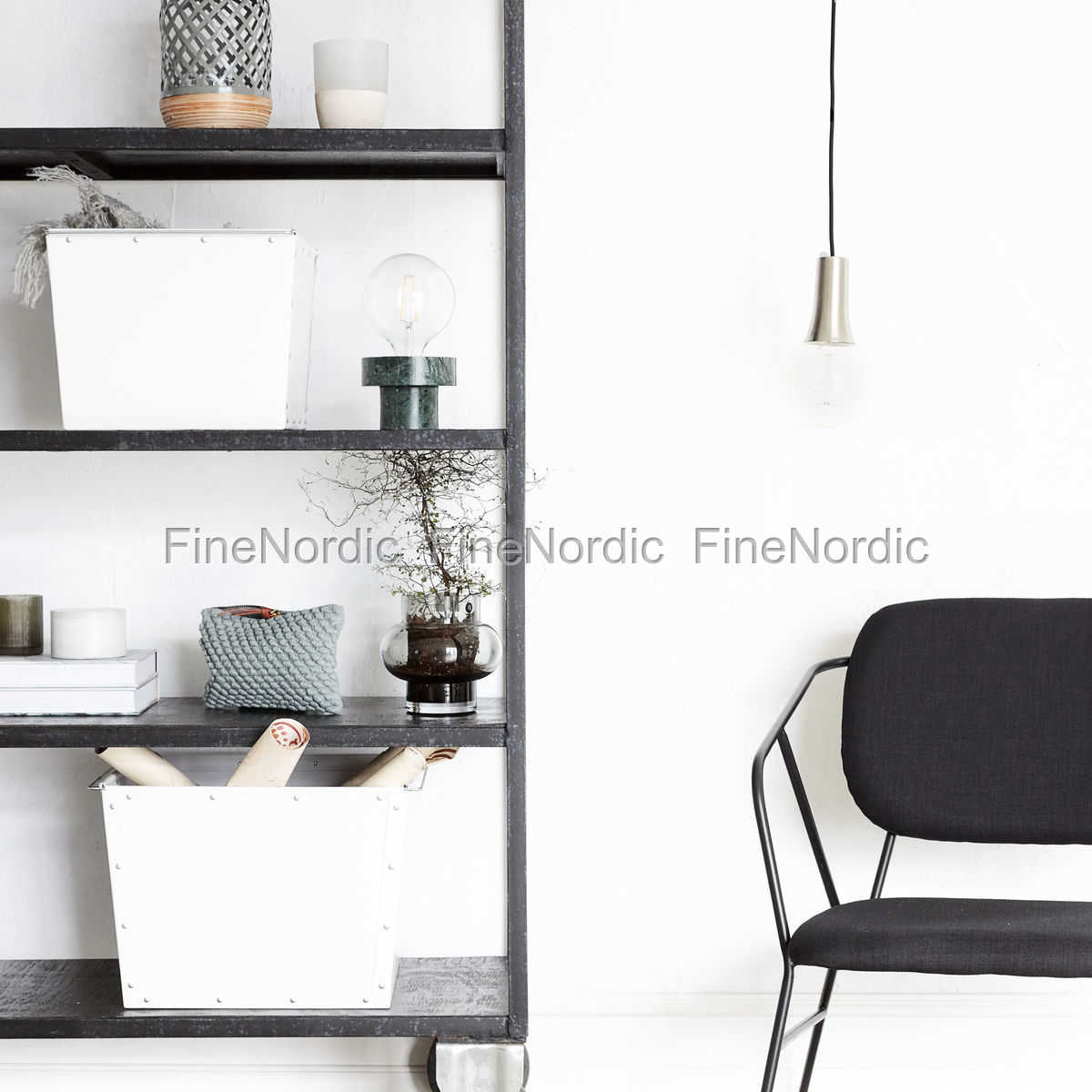house doctor aufbewahrungs box 1 wei set in 2 gr en. Black Bedroom Furniture Sets. Home Design Ideas