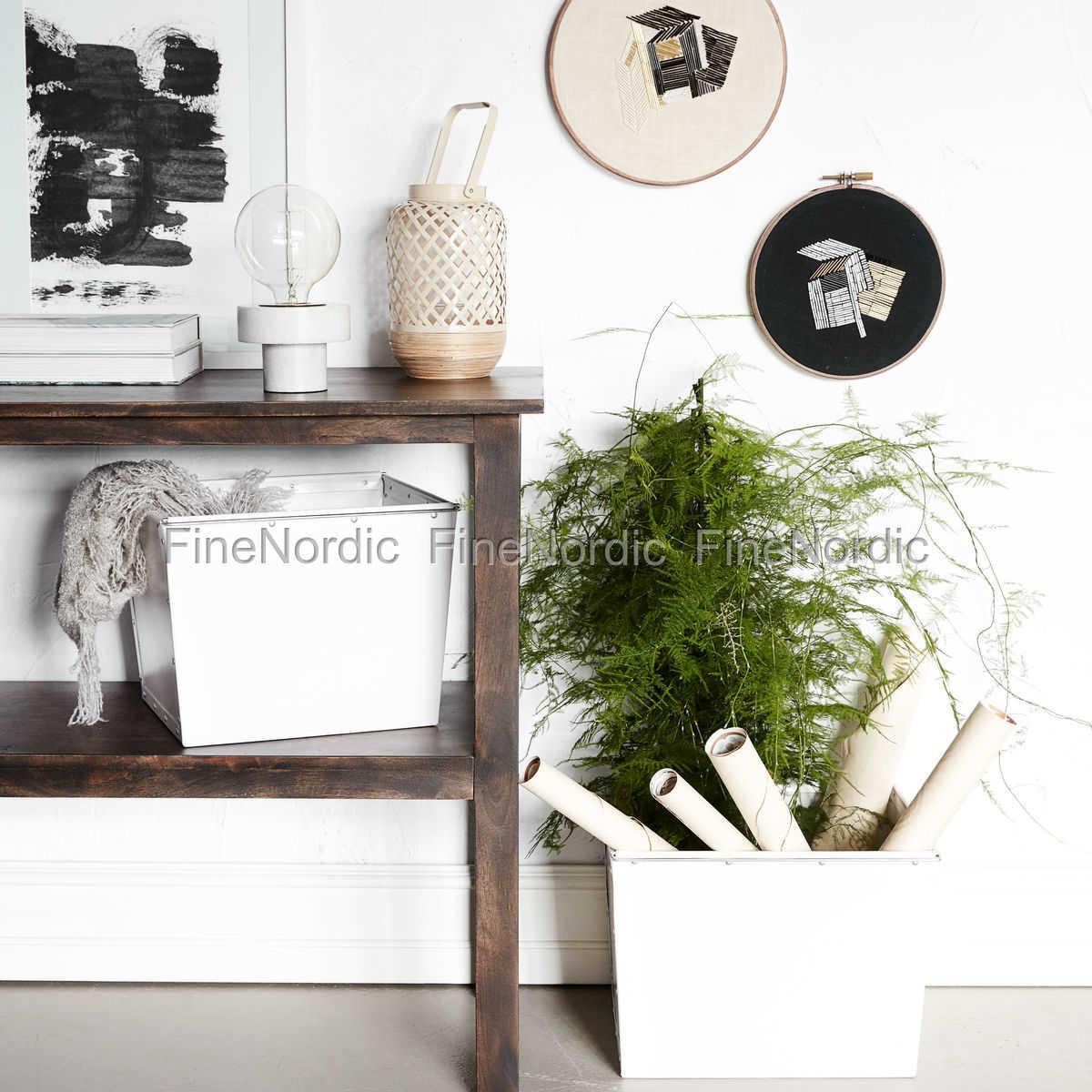 house doctor aufbewahrungs box 2 wei set in 2 gr en. Black Bedroom Furniture Sets. Home Design Ideas