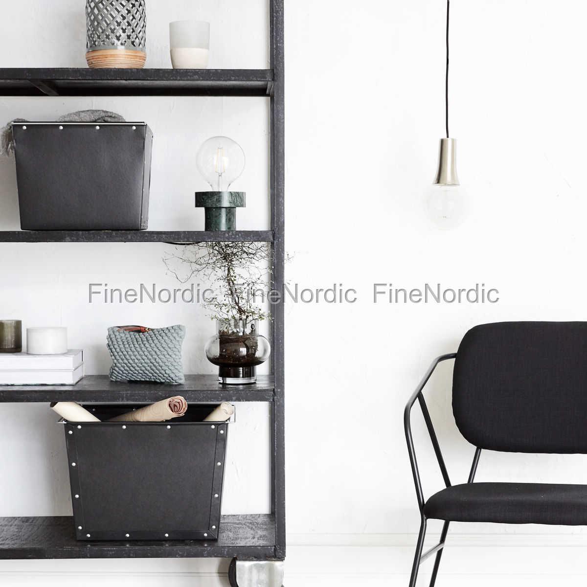 house doctor aufbewahrungs box 1 schwarz set in 2 gr en. Black Bedroom Furniture Sets. Home Design Ideas