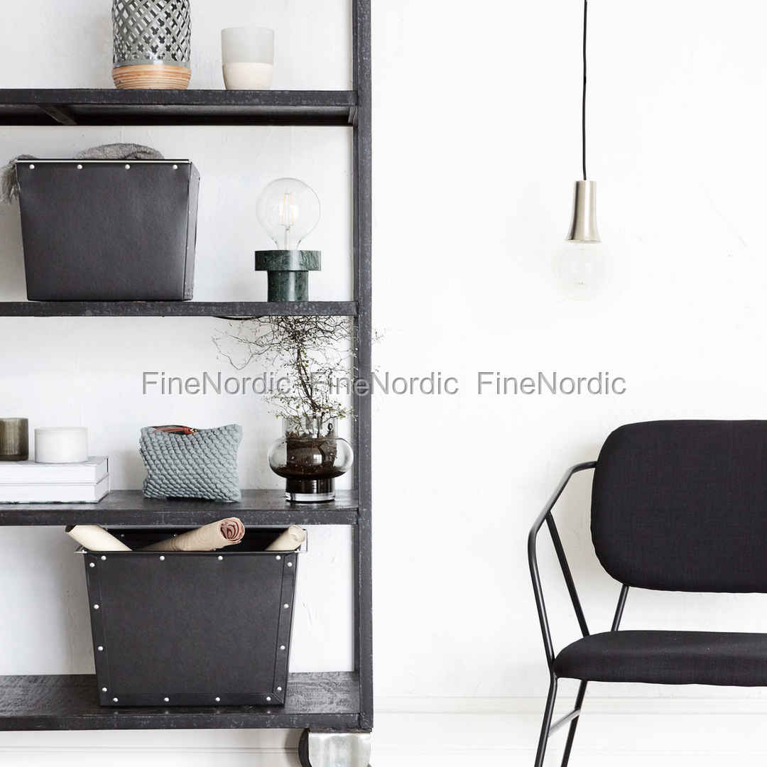 house doctor aufbewahrungs box 1 schwarz set in 2 gr en. Black Bedroom Furniture Sets. Home Design Ideas