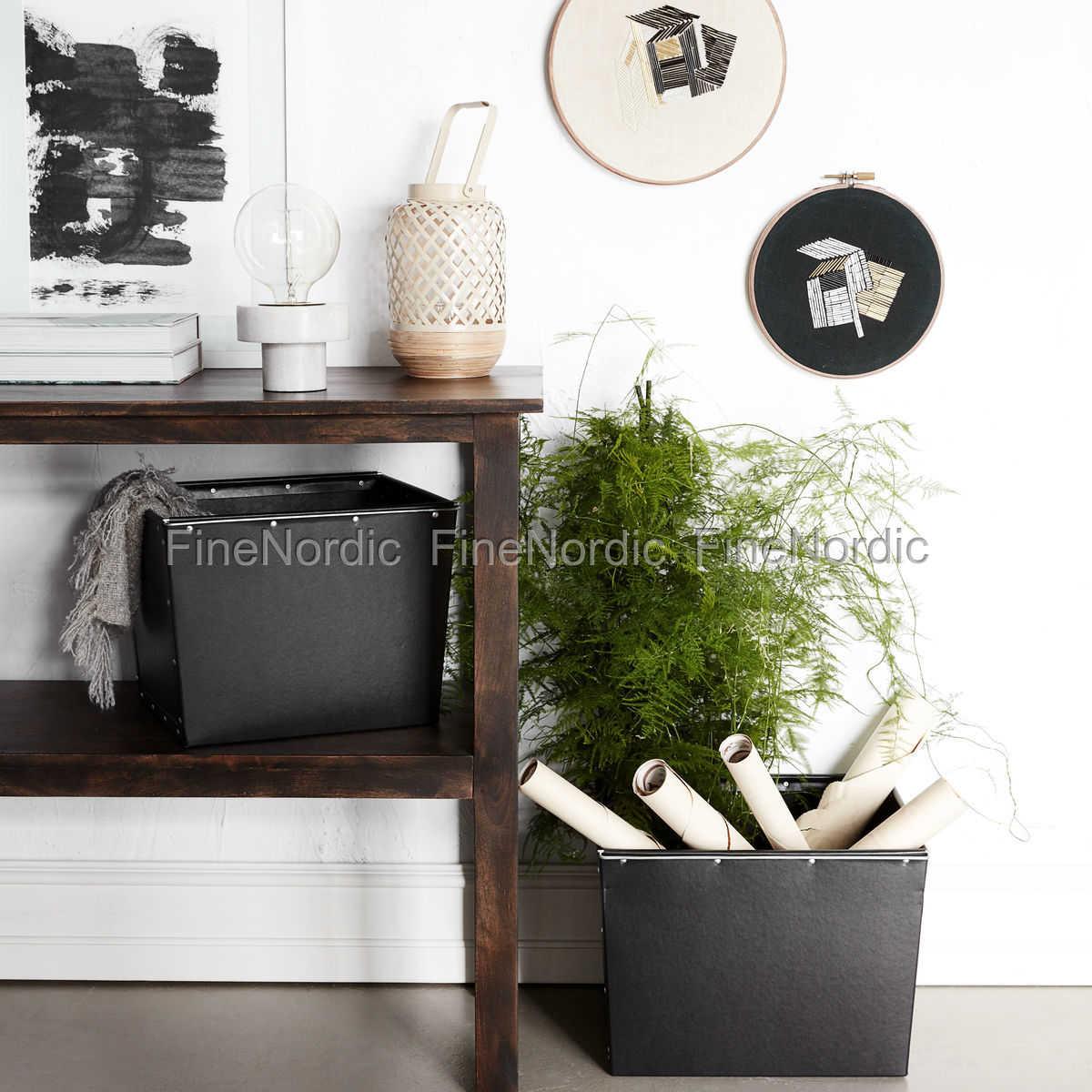 house doctor aufbewahrungs box 2 schwarz set in 2 gr en. Black Bedroom Furniture Sets. Home Design Ideas