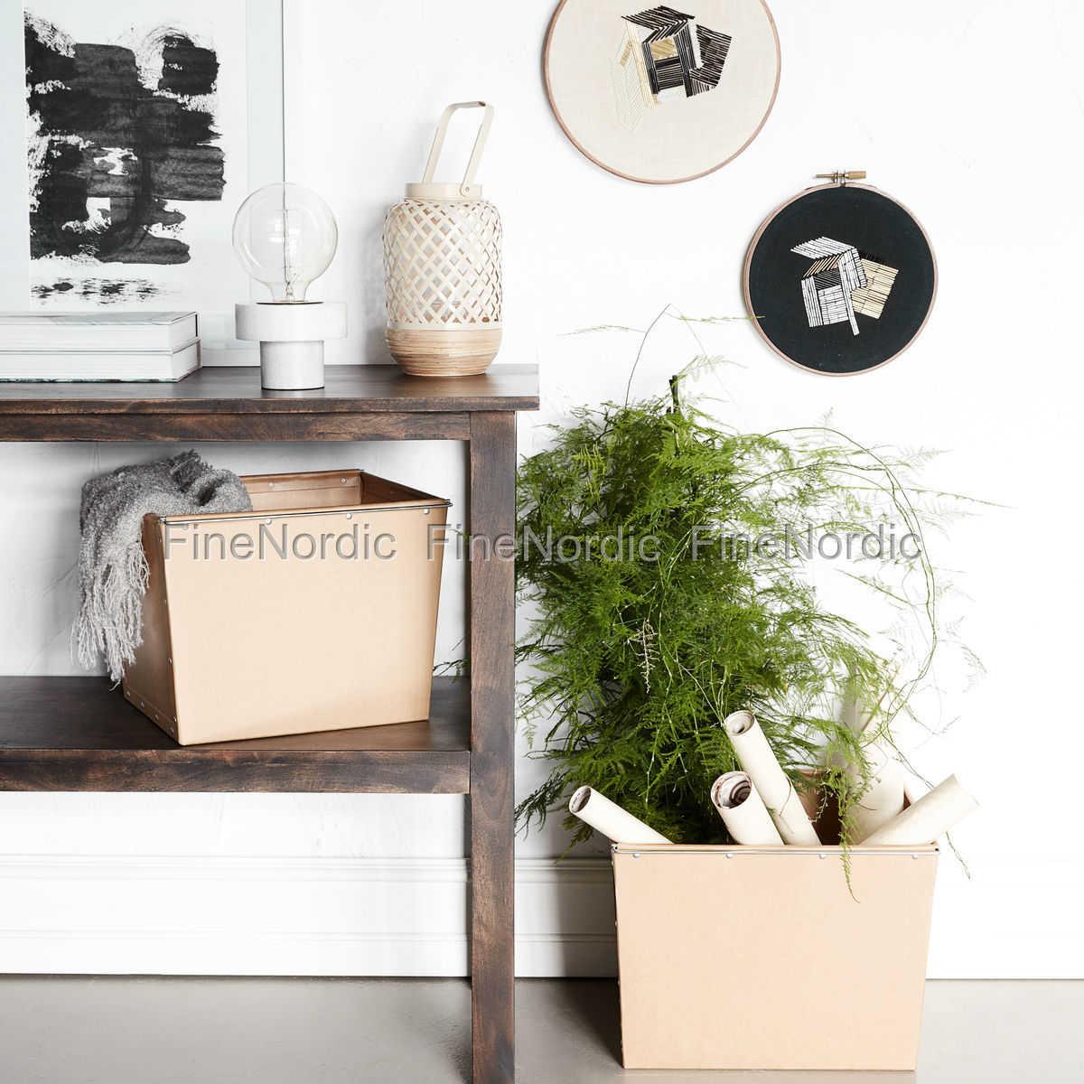house doctor aufbewahrungs box 2 natur braun set in 2 gr en. Black Bedroom Furniture Sets. Home Design Ideas