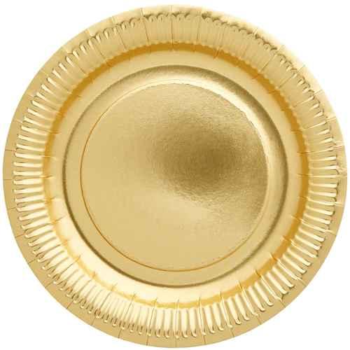 Rice gold metall 3 tier h ngen korb for Pappteller gold