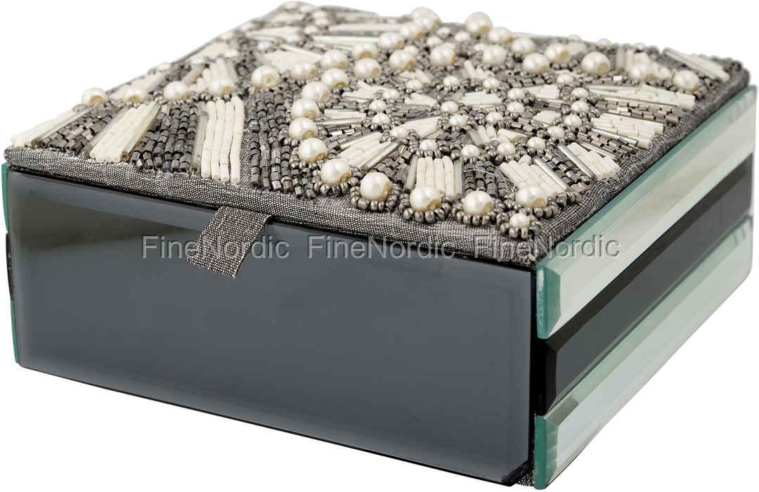 GreenGate Schmuckschatulle Jewelry Box Embellished Silver