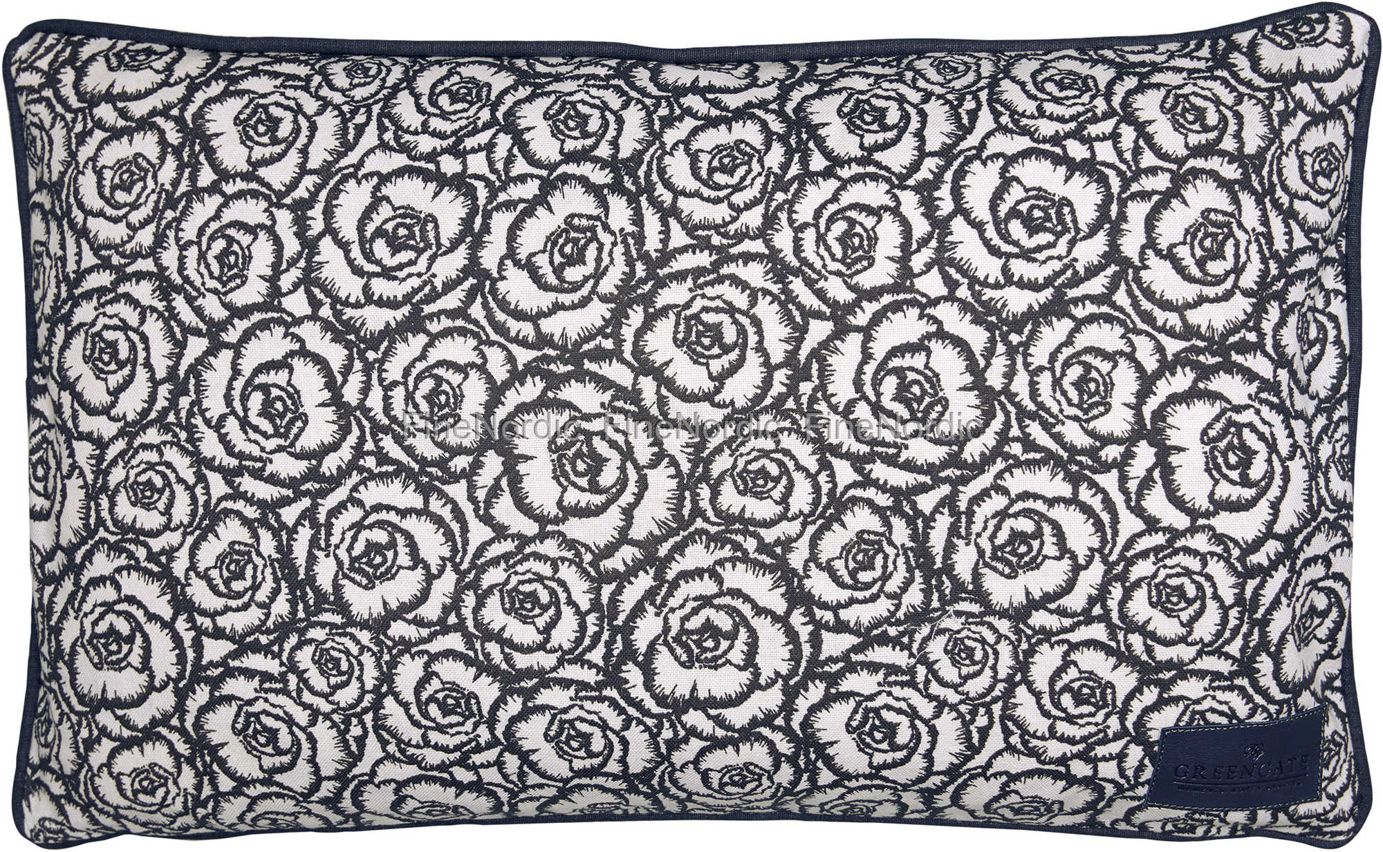 greengate gatenoir kissenh lle cushion blossom grey 30 x 50 cm. Black Bedroom Furniture Sets. Home Design Ideas