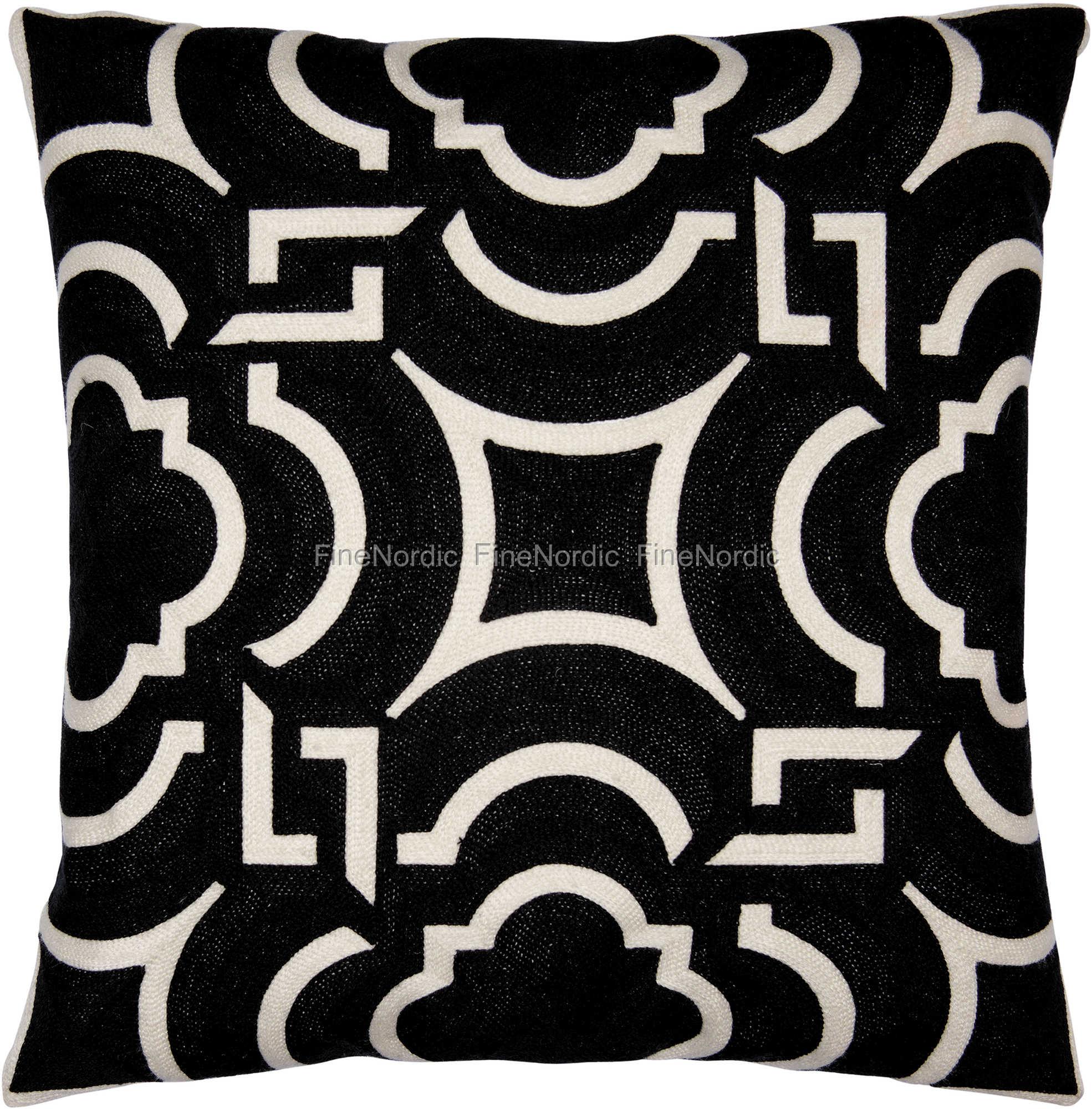 greengate gatenoir kissenh lle cushion art deco black embroi allover 50 x 50 cm. Black Bedroom Furniture Sets. Home Design Ideas