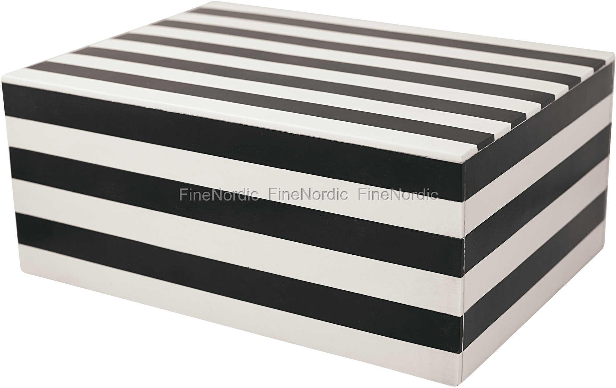 Greengate Gatenoir Aufbewahrungsbox Storage Box Stripe Black