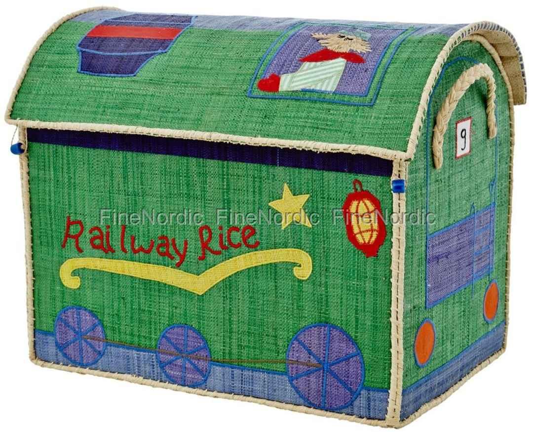 Rice Raffia Spielzeug-Korb Lokomotive