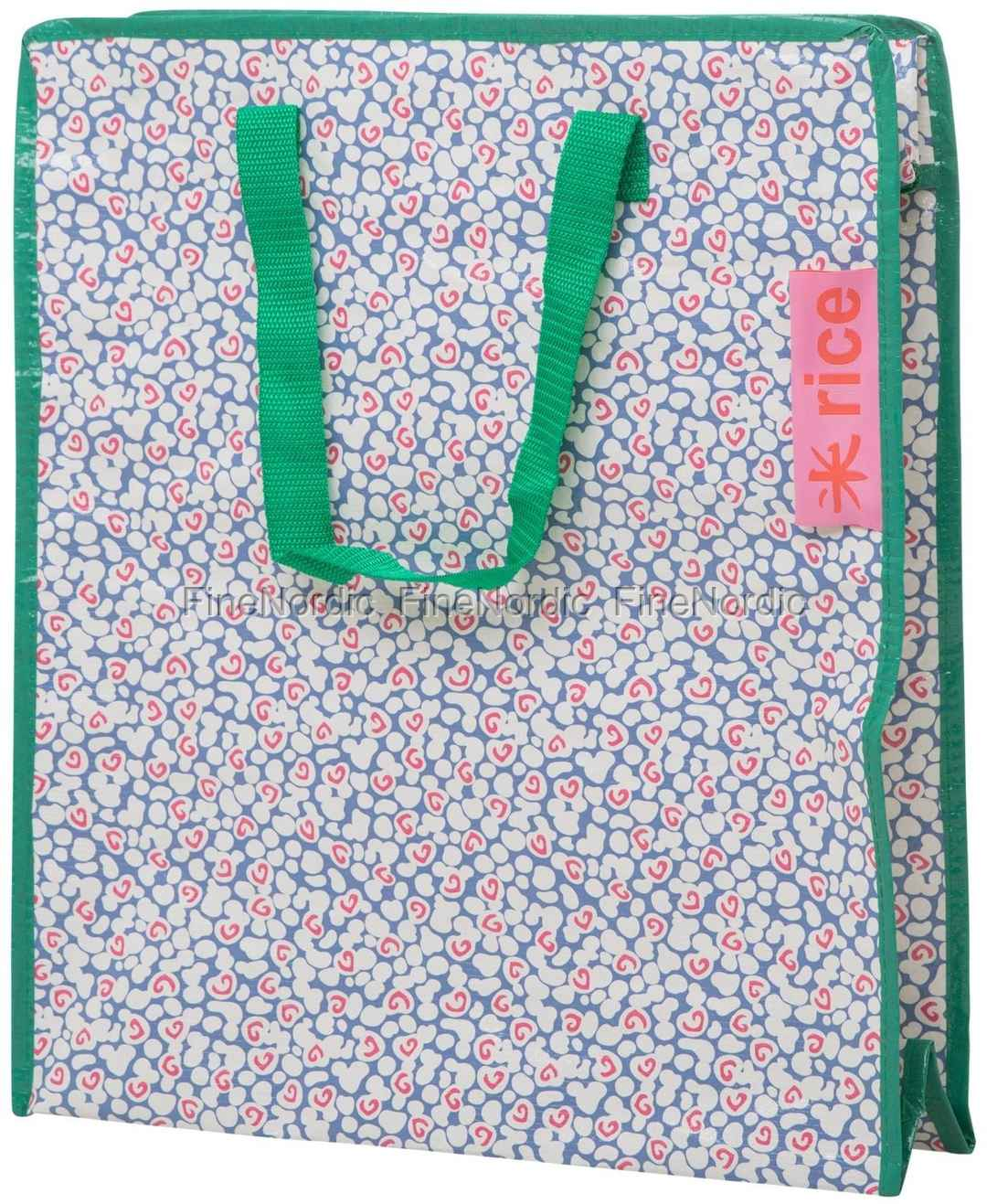 Spot Klein Mit Print Details Pp Rice Liquid Reißverschluss Grünen Tasche Gewebte Blau 4ALcjSRq35