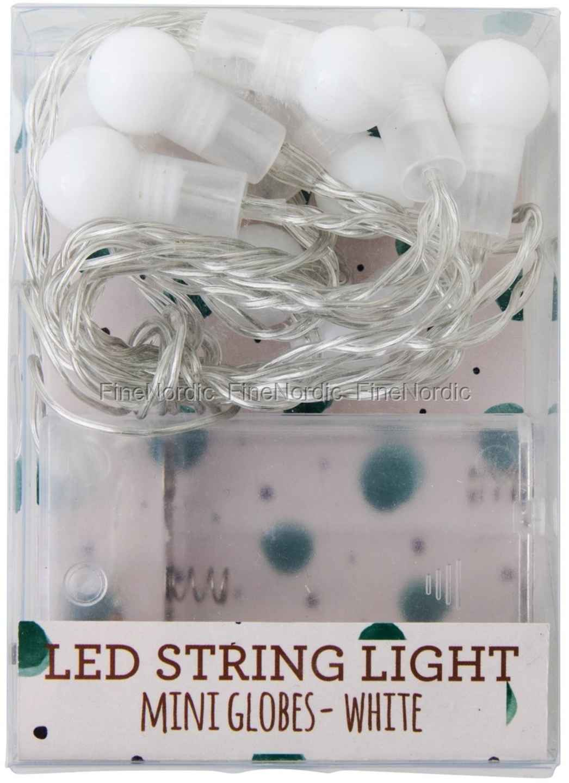 rice wei led mini ball lichterkette 10 kugeln f r innen. Black Bedroom Furniture Sets. Home Design Ideas