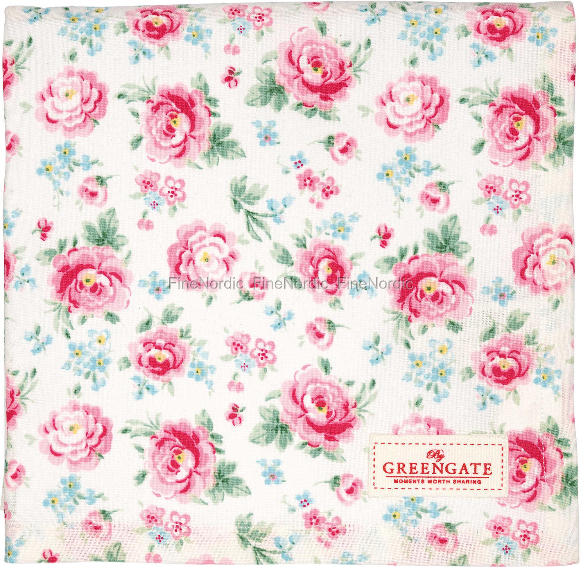 greengate tischdecke tablecloth meryl white 150 x 150 cm. Black Bedroom Furniture Sets. Home Design Ideas