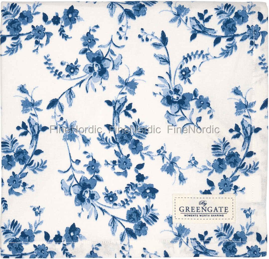 greengate tischdecke tablecloth vanessa blue 150 x 150 cm. Black Bedroom Furniture Sets. Home Design Ideas