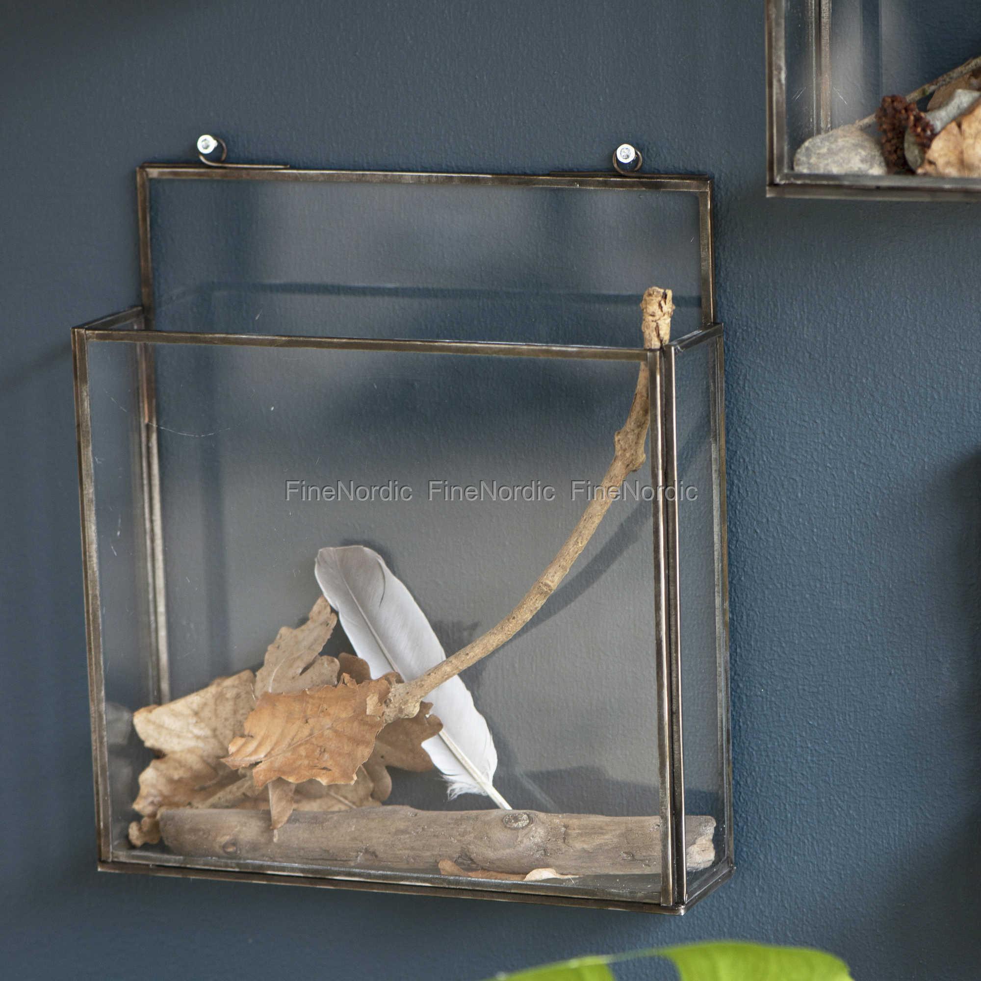 ib laursen korb mit wand glasseiten factory schwarz. Black Bedroom Furniture Sets. Home Design Ideas