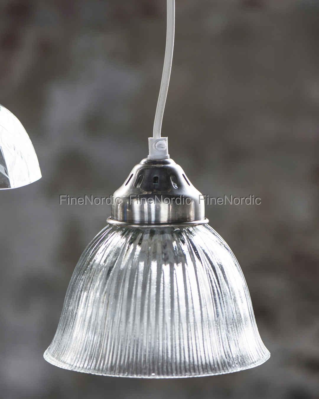 Avanceret Ib Laursen Lampe Glasschirm mit Breite Rillen SP64