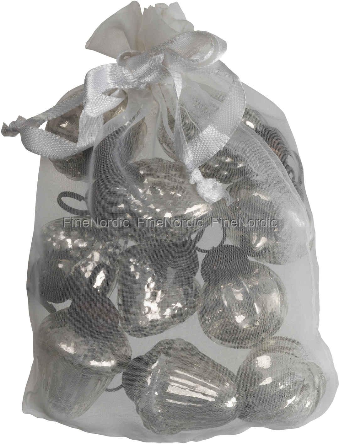 Mini Weihnachtskugeln.Ib Laursen Tüte Mit 10 Weihnachtskugeln Mini Silber