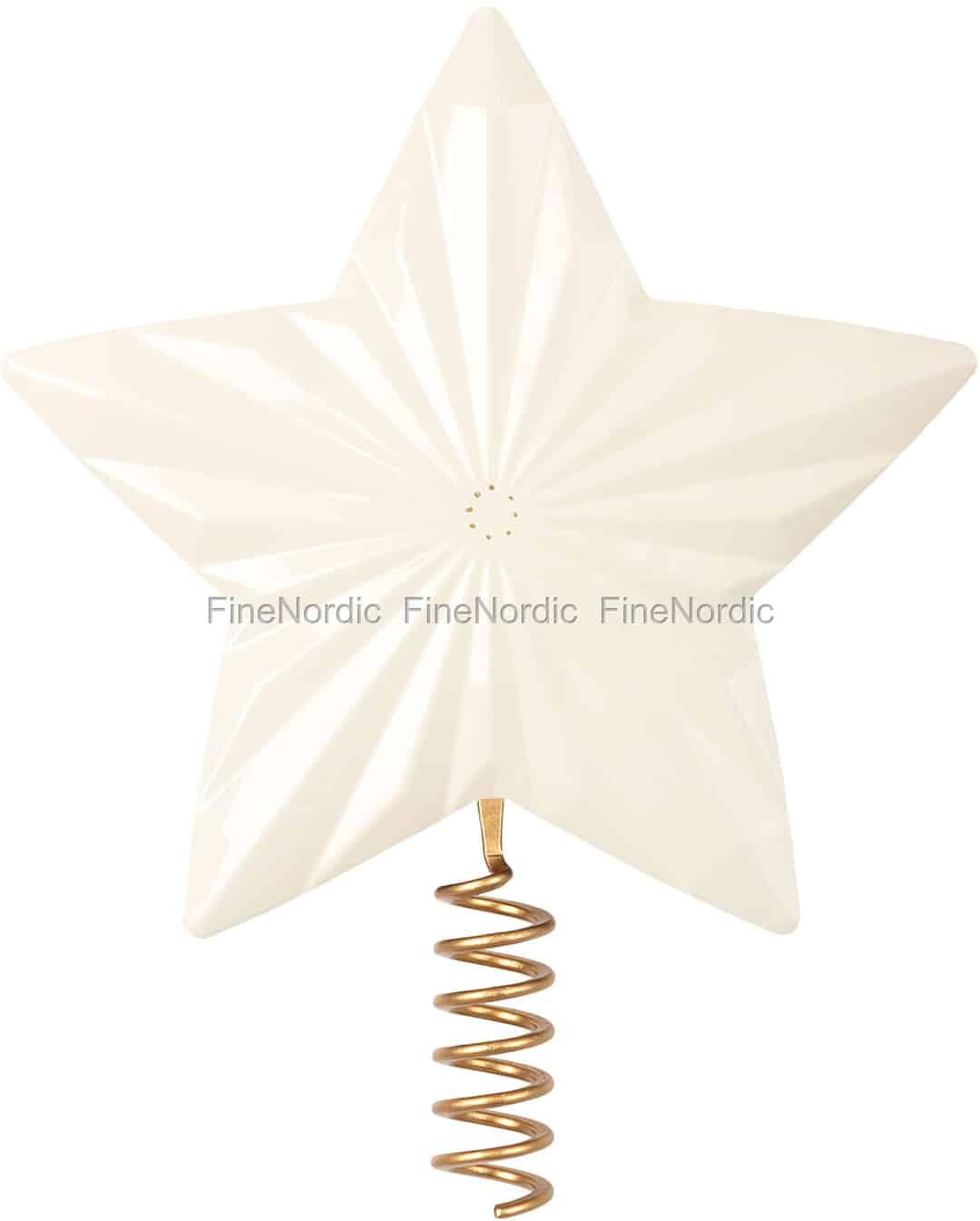 Stern Auf Weihnachtsbaum.Maileg Stern Für Weihnachtsbaum Metall Off White
