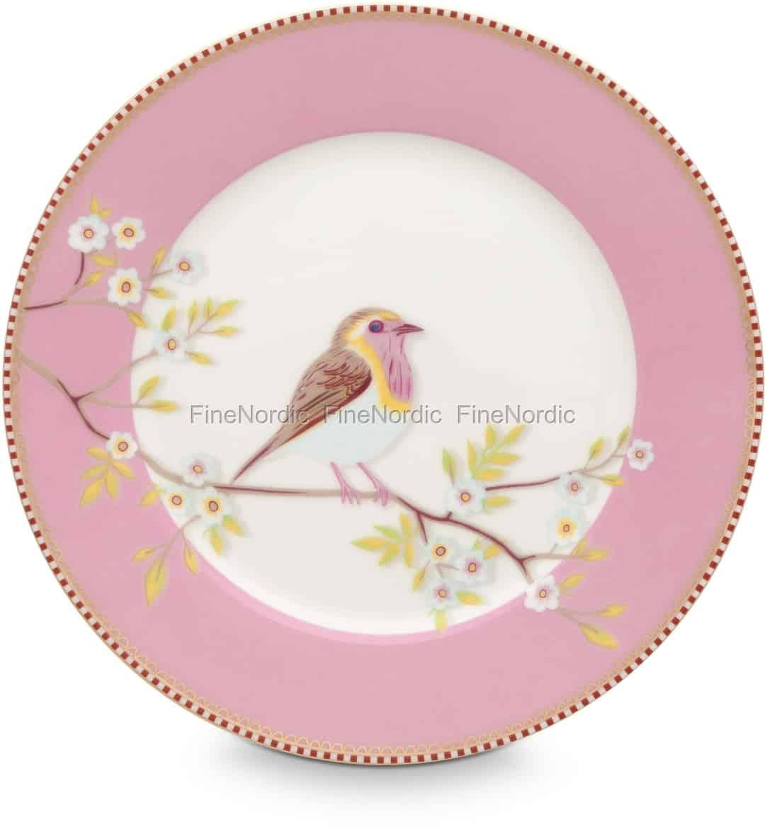 Pip Studio Floral Frühstücksteller Early Bird 21 Cm Pink