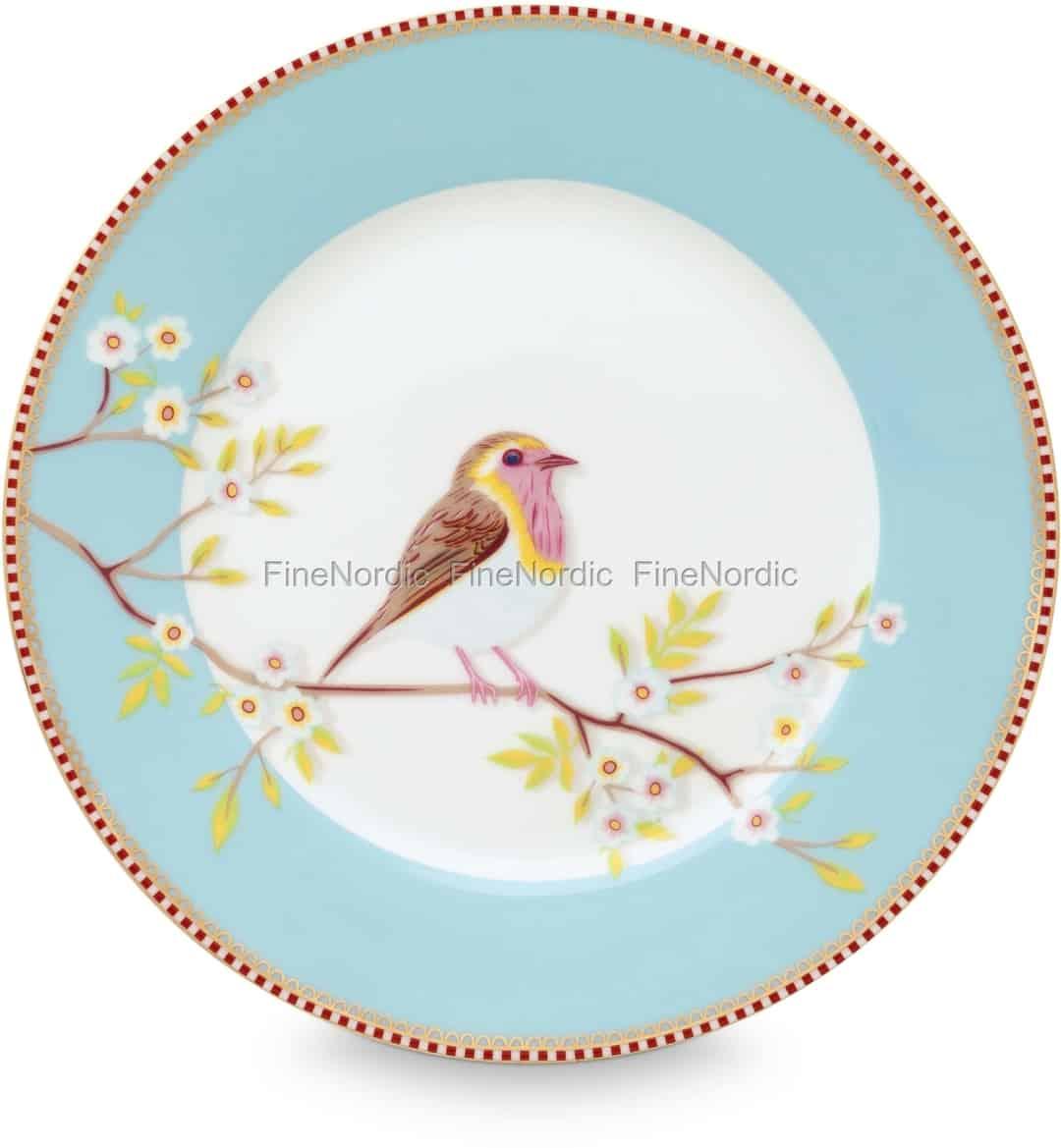 Pip Studio Floral Frühstücksteller Early Bird 21 Cm Blue