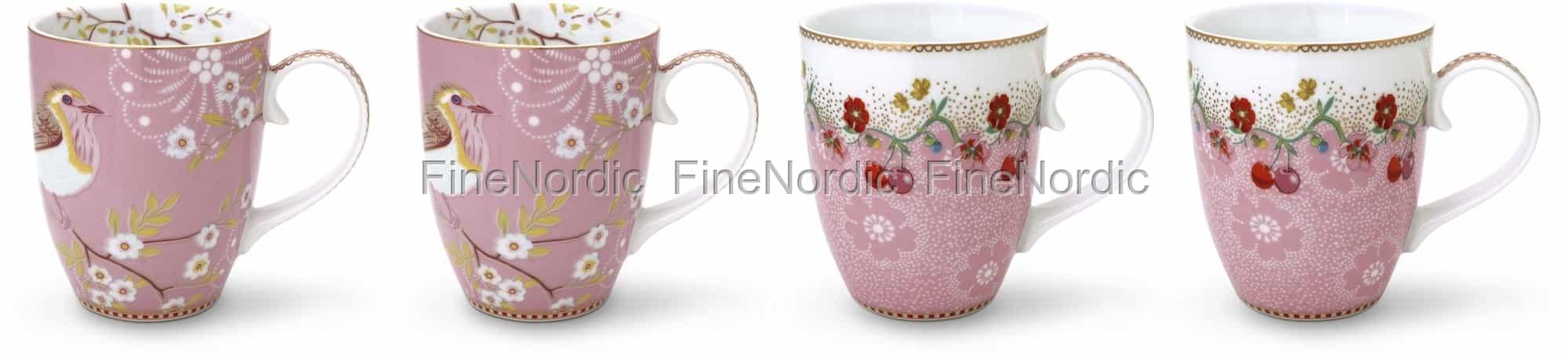 Pip Studio Tassen : pip studio floral tassen gro pink 4er set ~ Watch28wear.com Haus und Dekorationen