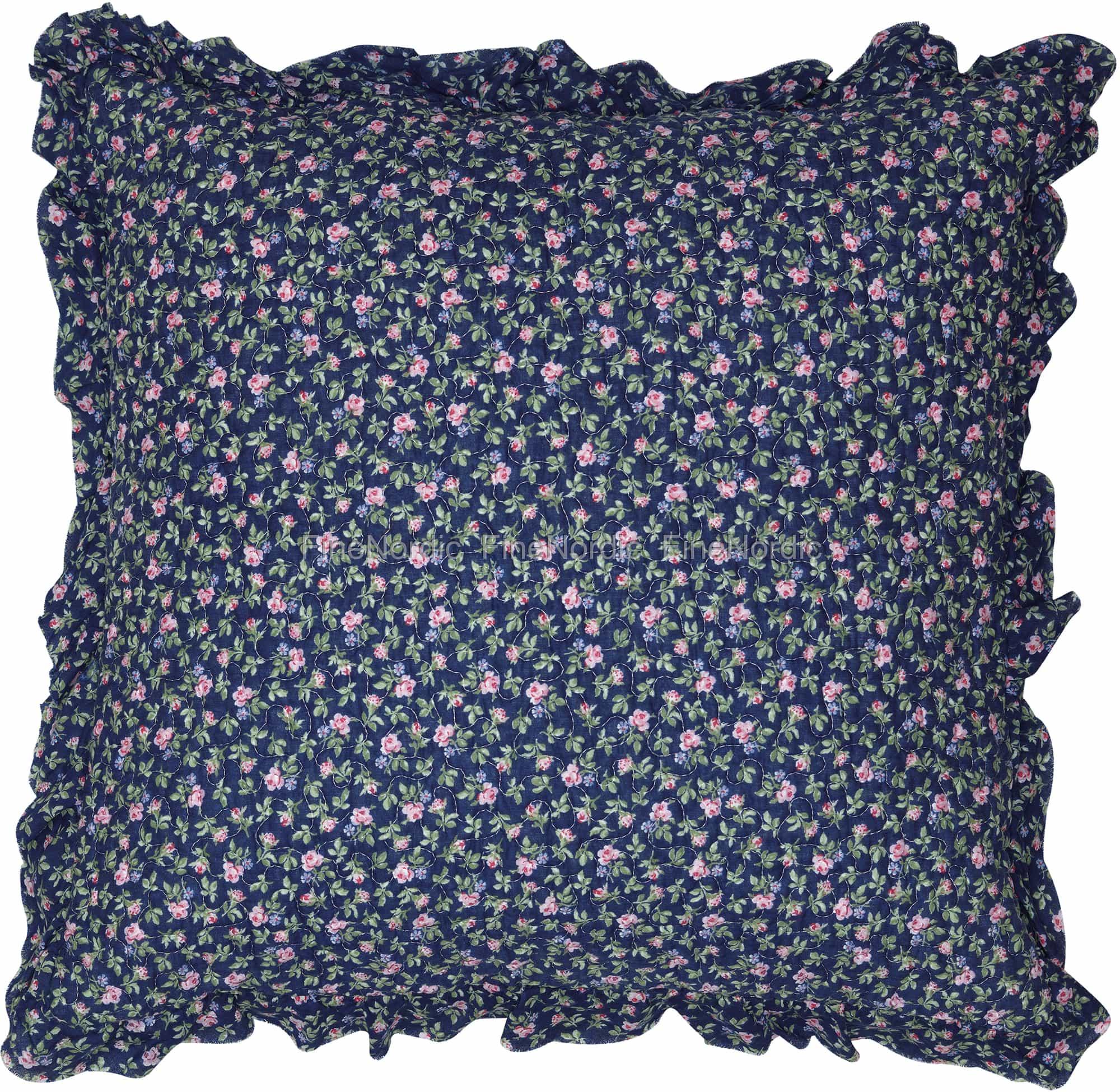 greengate kissenh lle berta dark blue r schen 50 x 50 cm. Black Bedroom Furniture Sets. Home Design Ideas