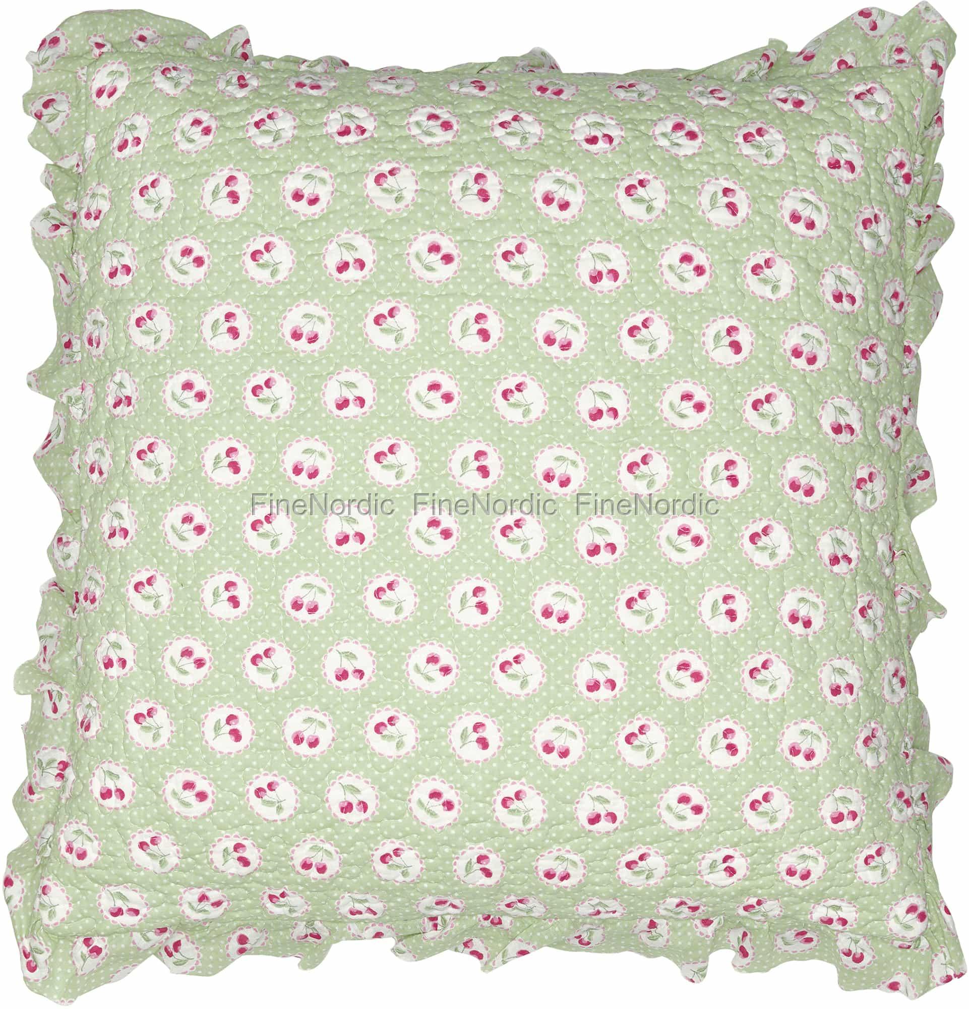 greengate kissenh lle cherry berry pale green r schen 50 x 50 cm. Black Bedroom Furniture Sets. Home Design Ideas