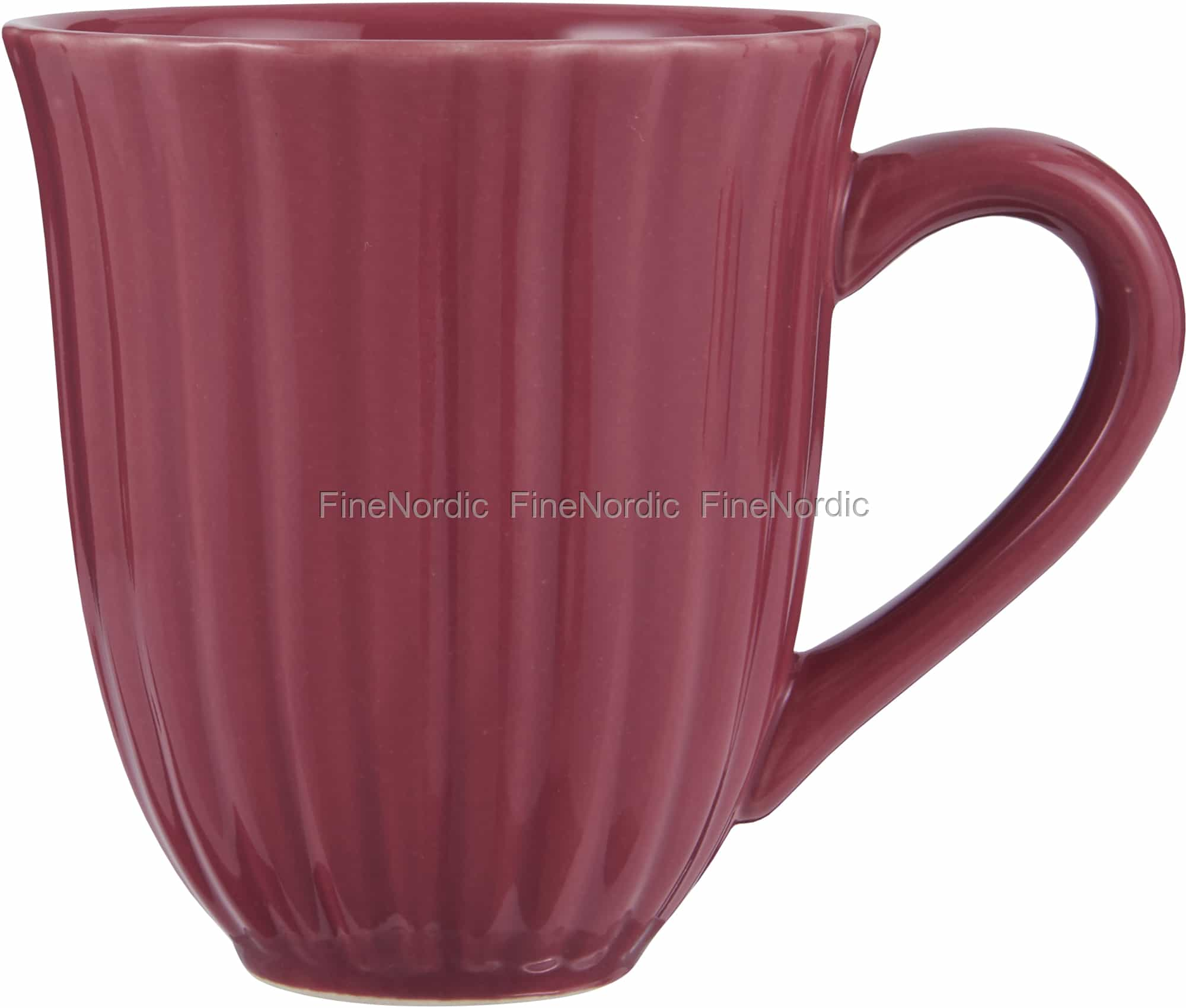 IB Laursen Becher mit Rillen rot Mynte Geschirr Tasse Strawberry Keramik