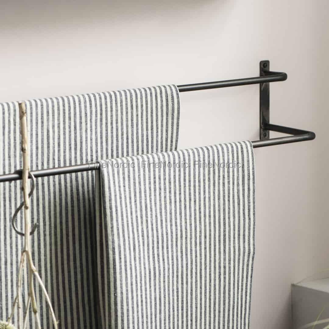 Ib Laursen Handtuchhalter zum Wand mit 2 Riegel Schwarz