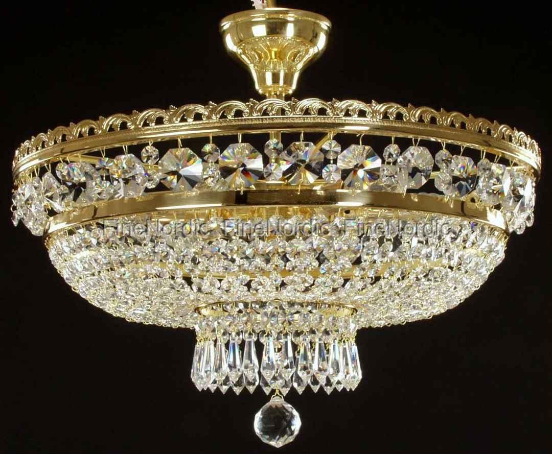 elite bohemia kristall deckenkronleuchter mit sechs leuchten gold finish swarovski kristall. Black Bedroom Furniture Sets. Home Design Ideas