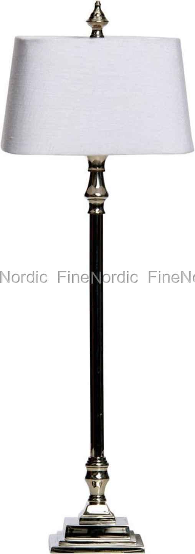 lene bjerre tischlampe mit schirm alberta beleuchtung silber 155304915. Black Bedroom Furniture Sets. Home Design Ideas